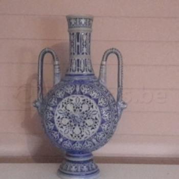 Blue Blanc Chinese Vase