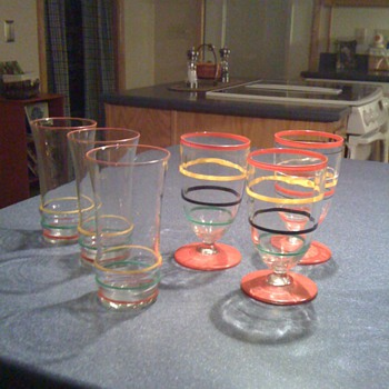 Striped Juice glasses - Glassware