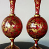 A PAIR OF JOSEPHINEHUTTE GLASS VASES c1870