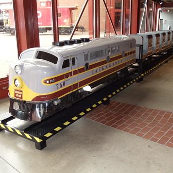 Lackawanna RR Nay Aug Park Train….. - Railroadiana