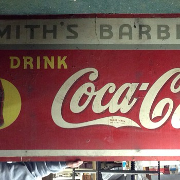 Masonite Sign - Coca-Cola