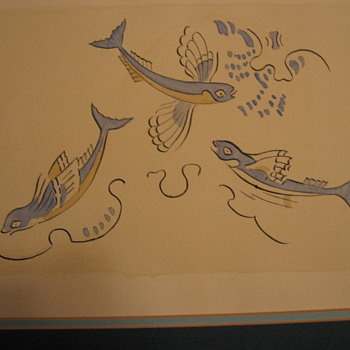 The Flying Fish of Phylakopi- milos island - Klimt - Visual Art