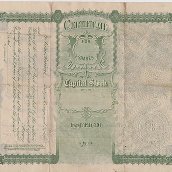 Stock Certificate 1900