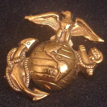 Vintage USMC Eagle Anchor & Globe Pin Early Version - Military and Wartime