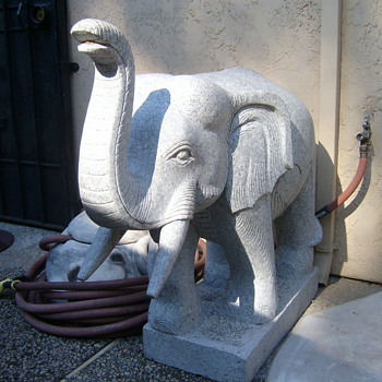 solid marble elephants - Asian