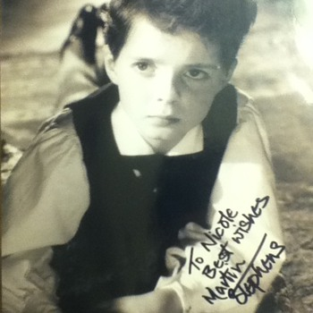 Martin Stephens autograph