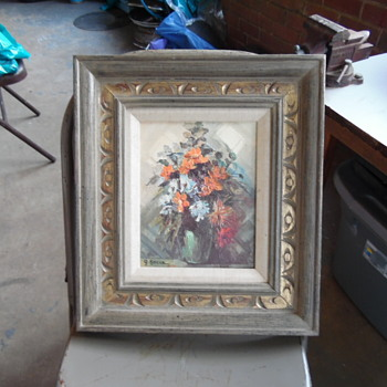 Vintage Painting Signed Bocca Bought From Brown Elephant In Chicago - Visual Art