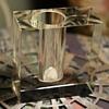 Vintage Modernist Vase - Crystal
