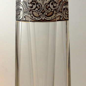 Moser Signed Crystal Vase with Oroplastic Decoration, ca. 1920