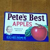 (NOS) New Old Stock - Pete&#039;s Best Apples Fruit Crate Label