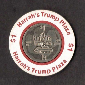 Harrah's Trump Plaza Casino - $1 Gaming Chip - Games