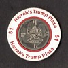 Harrah's Trump Plaza Casino - $1 Gaming Chip