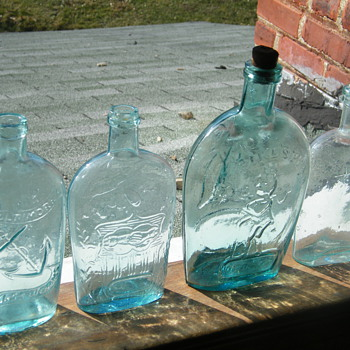 Historic Flasks, Anchor Flasks, & Others!! Pikes Peak, Baltimore GW ! - Bottles