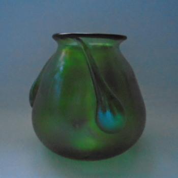 Small Bohemian Iridescent Vase