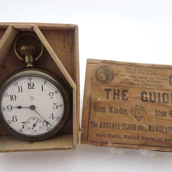 Ansonia Pocket Watch in Wooden Box Part 3 - Pocket Watches