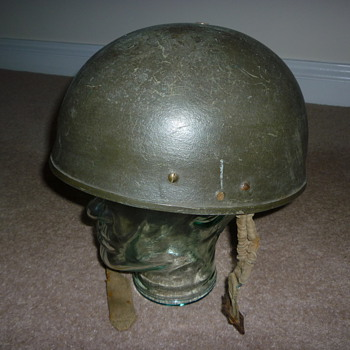 "WW11 ""experimental"" tank crew/dispatch rider steel helmet"