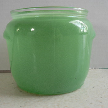Green Glass Jar - Glassware