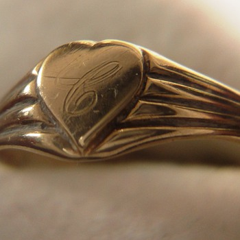 Yellow gold strange adjustable heart ring - Fine Jewelry