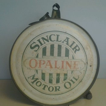 Sinclair Rocker Oil Can 1920s - Petroliana