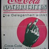 "the first issue of the coca-cola nachrichten issued in Germany. Year 1. No.1 October 1934 "" Opportunity is around"" it says"