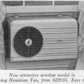 1952 - Fedders Air Conditioner Advertisements - Advertising