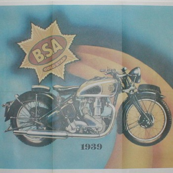 1939 B.S.A. Goldstar Motorcycle Poster - Advertising