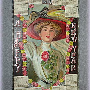 1910 Victorian Calendar Postcard - Postcards