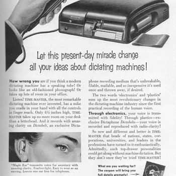 1952 - Dictaphone Advertisement - Advertising