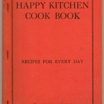1930's - Happy Kitchen Cook Book - Books