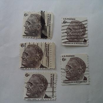 Franklin D. Roosevelt 6 Cent Postage Stamps