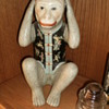 My Hear no vil and Speak no Evil Ceramic Monkeys..