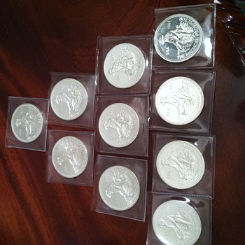 Engelhard Silver 1984 Prospector .999 Solid Silver Rounds