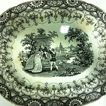 Black plate with staples - China and Dinnerware