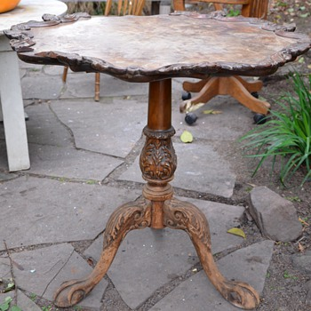 Old Piecrust Table - to refinish or not? - Furniture
