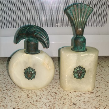 Alabaster Perfume Bottles Lion Head - Bottles