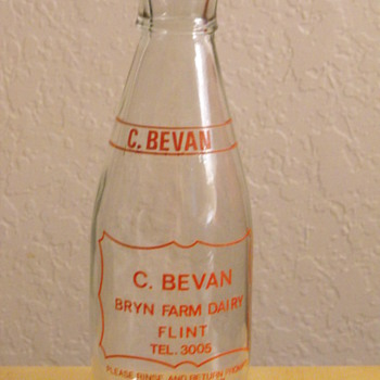 C. Bevan Bryn Farm Dairy Bottle from Great Britain