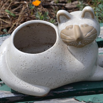Kitty Planter by David Stewart from southern california - Art Pottery
