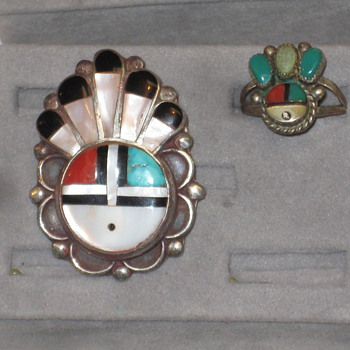 Zuni Broach and Ring - Fine Jewelry
