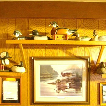 Vintage Hand Carved & Older Duck Decoys also Signed,Limited Addition, Hand Painted Duck, Wildlife Pictures - Outdoor Sports