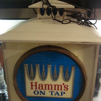 1960's HAMM'S beer rotating clock/sign - Signs
