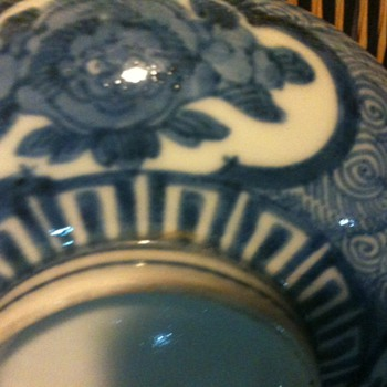 Nice scary Antique Imari - Salt Dish - Happy Halloween  - Asian