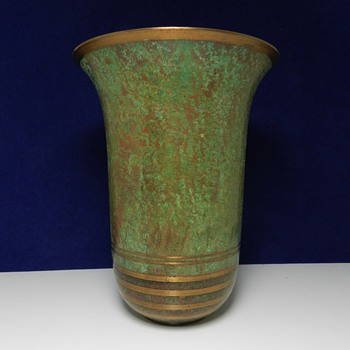 1920's Art Deco BRONZE Carl Sorensen Vase - Art Deco