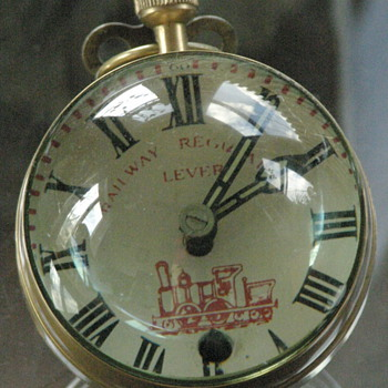 Railway Regulator Lever bubble glass clock - Clocks