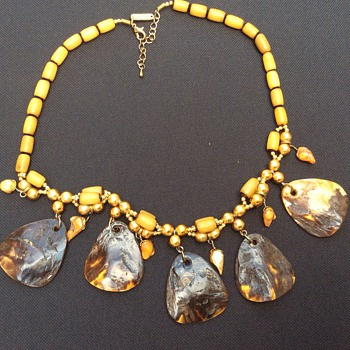 Ant/ vintage ? Tortoiseshell necklace.  - Fine Jewelry