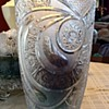 Lead crystal bowl and vase