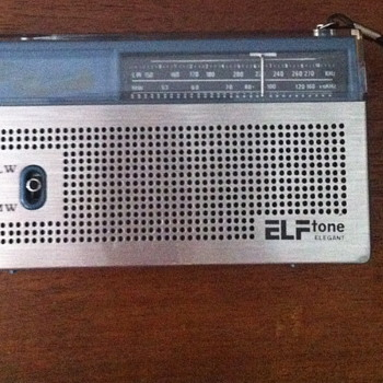 Elf tone elegant solid state MW/LW two band radio. - Radios