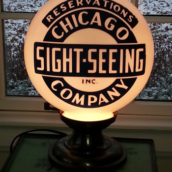 Chicago Travel Globe Lamp
