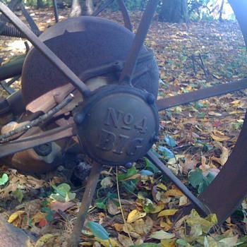 Vintage John Deere cast - iron hay mower - Tractors