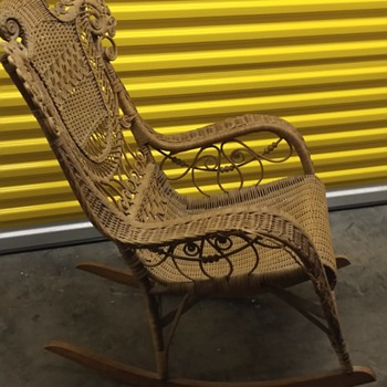 My favorite antique wicker rocker