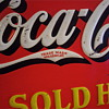 "Here is my early 30s Long ""C"" Coca Cola tin sign"